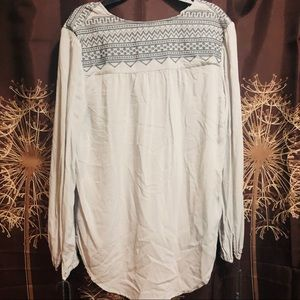 Love Stitch Tops - LOVESTITCH Boho Pheasant embroidered Blouse Top S